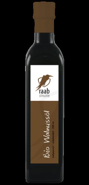 Ölmühle Raab Bio Walnussöl, Handverlesen, Kaltgepresst und unbehandelt, Kontrolliert biologisch