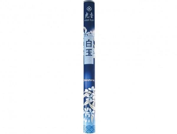 Japanische Räucherstäbchen Shiratama, Weißer Juwel, 22 Stk für große Liebe und unvergessliche Träume