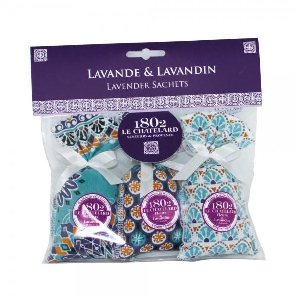 Duftsäckchen mit Lavendel & Lavandin - Design Bleu Azur
