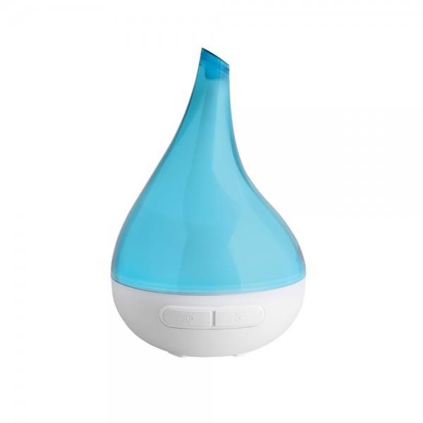 Raumluft Aroma Diffuser Bloom, Türkis, Aroma Therapie, Ultaschalltechnologie, Luftbefeuchter, 200 ml