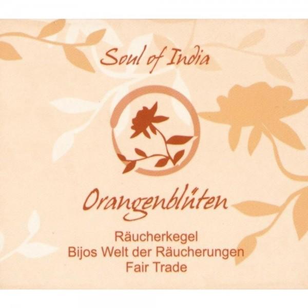 Räucherkegel Orangenblüten Soul of India FAIR TRADE, Räucherkerzen