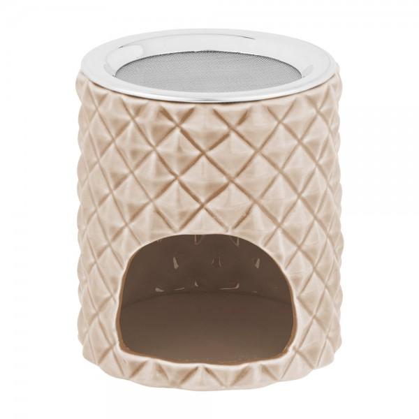 Weihrauchbrenner Charu macchiato aus Keramik mit Edelstahlsieb