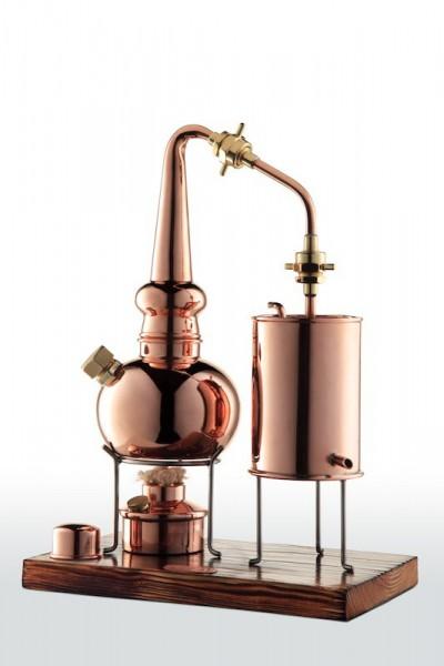 CopperGarden Whisky-Destille 2 Liter, meldefrei, handgeschmiedet aus Kupfer, edle Supreme Qualität