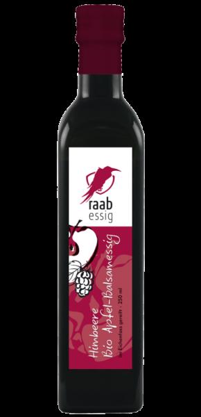 Ölmühle Raab Bio Himbeer-Apfelbalsamessig, 250 ml, im Eichenfass gereift, biologischer Anbau