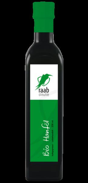 Ölmühle Raab Bio Hanföl Handverlesen, Kaltgepresst und unbehandelt, Kontrolliert biologischer Anbau