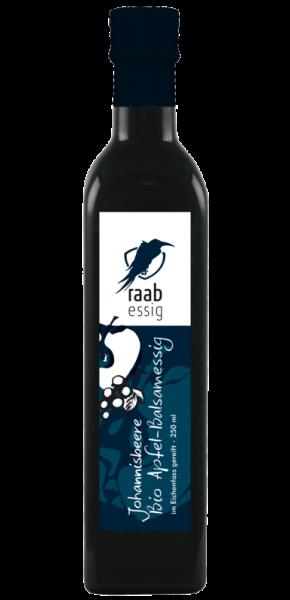 Ölmühle Raab Bio Johannisbeer-Apfelbalsamessig, 250 ml, im Eichenfass gereift, biologischer Anbau