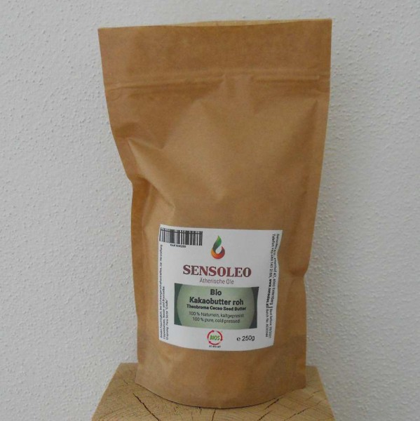 Sensoleo Bio Kakaobutter Chips roh