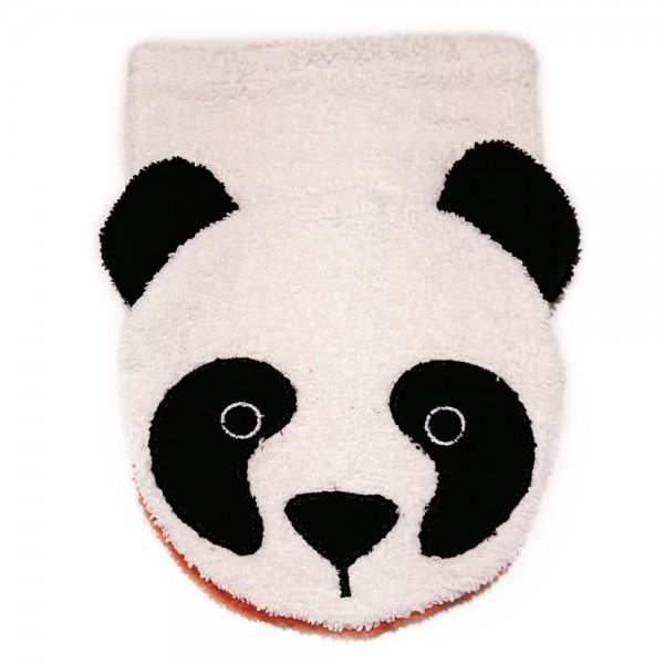 Bio Waschhandschuh Panda, Kinder Waschlappen aus 100% Bio Baumwolle