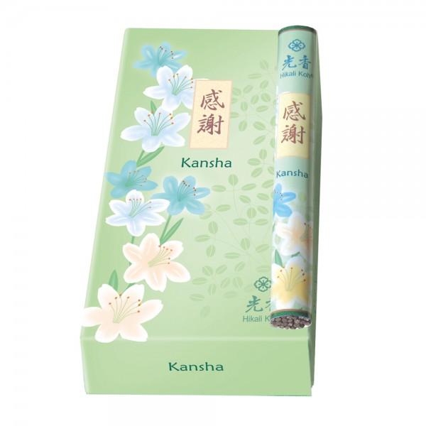 Japanische Räucherstäbchen Hikali Koh, Kansha, Anerkennung, 28 Stk, für das Selbstvertrauen