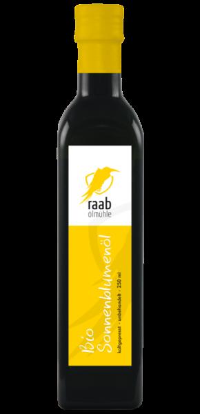 Ölmühle Raab Bio Sonnenblumenöl, Handverlesen, Kaltgepresst und unbehandelt, Kontrolliert biologisch