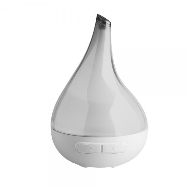 Raumluft Aroma Diffuser Bloom grau, Aroma Therapie, Ultaschalltechnologie, Luftbefeuchter, 200 ml