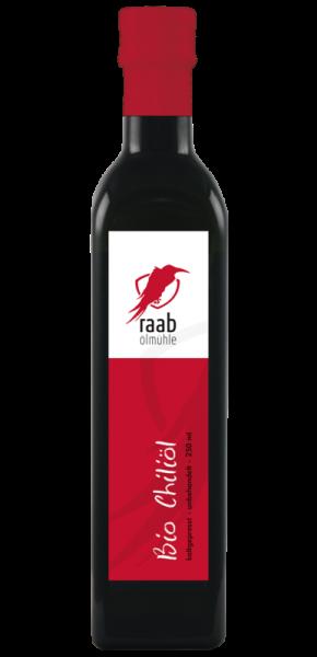 Ölmühle Raab Bio Chiliöl, Handverlesen, Kaltgepresst und unbehandelt, Kontrolliert biologisch