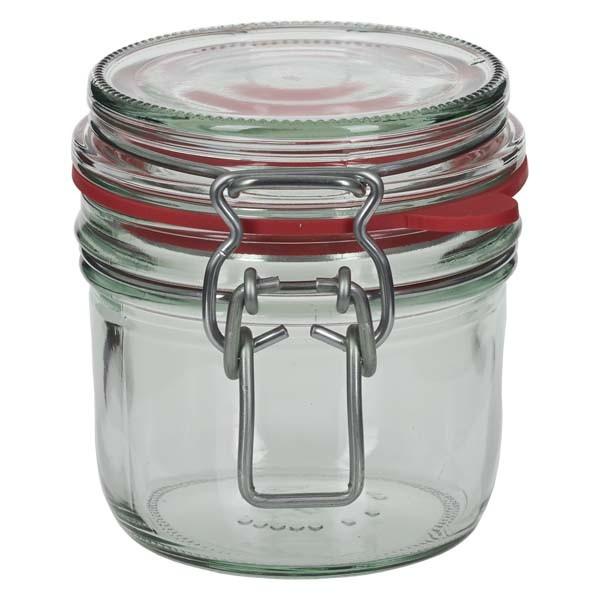 Einmachglas 255 ml mit Drahtbügel und Dichtring, Drahtbügelglas, Vorratsglas