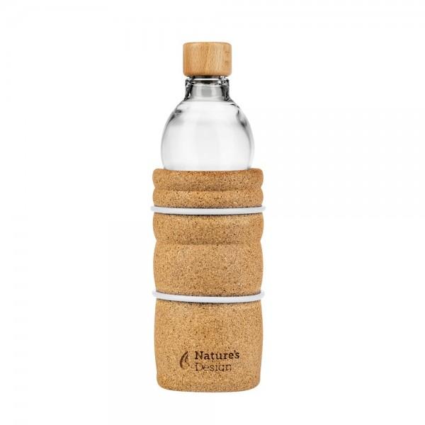 Trinkflasche to go Lagoena 0,7 Liter, mit Lebensblume Weiß