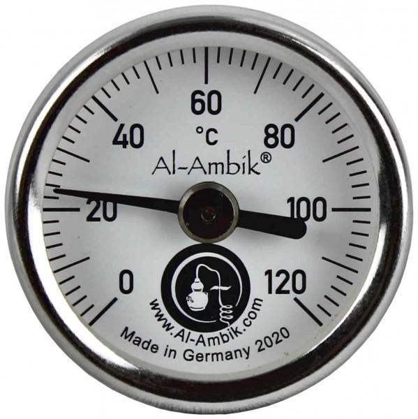 Al-Ambik Thermometer zum Destillieren, Größe S, Messfühler 4 cm, Industrienorm Klasse 1