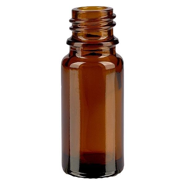 Braunglasflasche 10 ml, Aromaflasche, Tropfflasche, Sprayflasche, Gewinde DIN 18, Apothekenqualität