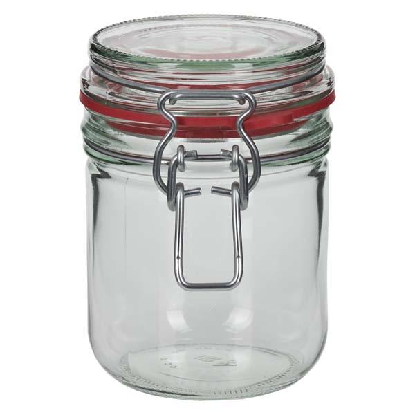 Einmachglas 400 ml mit Drahtbügel und Dichtring, Drahtbügelglas, Vorratsglas