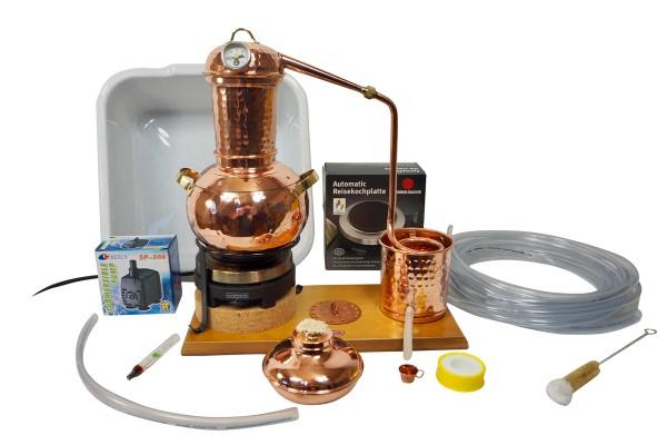 CopperGarden Destille Arabia 2 Liter Tischdestille aus Kupfer, meldefrei, Komplettset