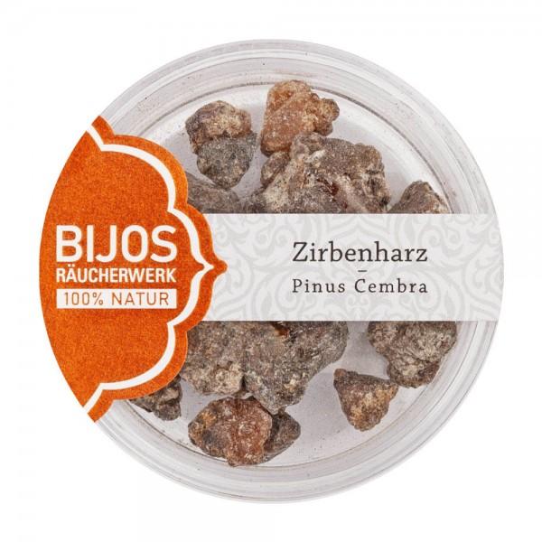 Bijos Zirbenharz, Pinus Cembra, Räucherwerk im Glas, 50 ml