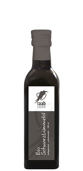 Ölmühle Raab Bio Schwarzkümmelöl, Handverlesen, Kaltgepresst und unbehandelt, 100 ml