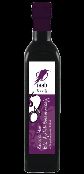 Ölmühle Raab Bio Zwetschke-Apfelbalsamessig, 250 ml, im Eichenfass gereift, biologischer Anbau