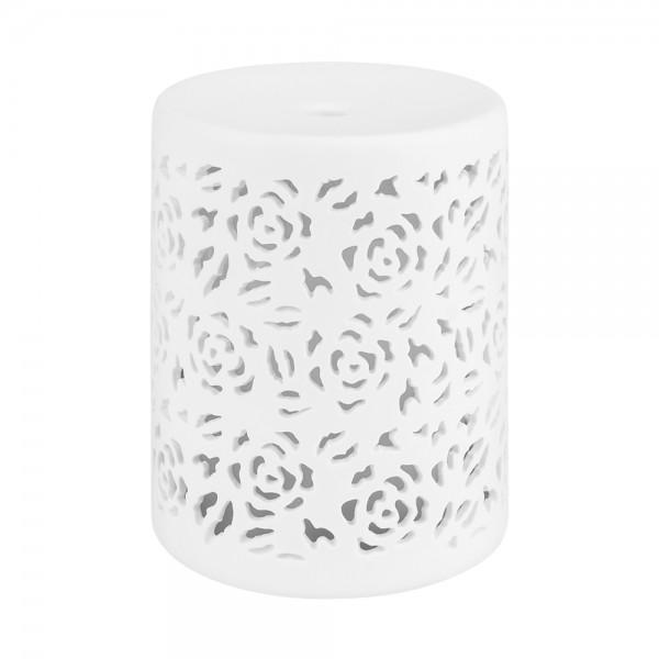 Aroma Diffuser Flora, Keramik, Raumduft elektrisch, weiß, 80 ml, LED-Licht mit Farbwechsler