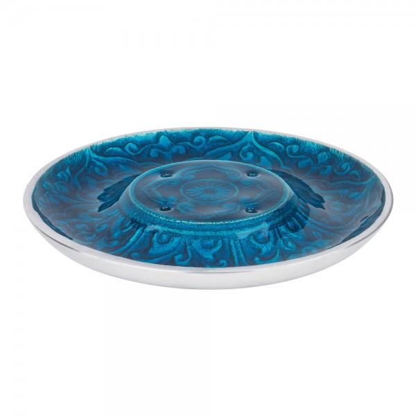 Räucherstäbchenhalter Anwar blau, Räucherteller für 4 Räucherstäbchen