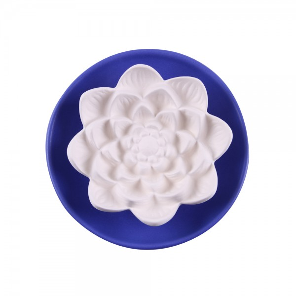 Duftkeramik Lotusblüte groß blau