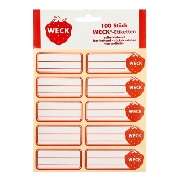 WECK Etiketten 100 Stück, 19 x 13 mm, selbstklebend, für alle Gläser