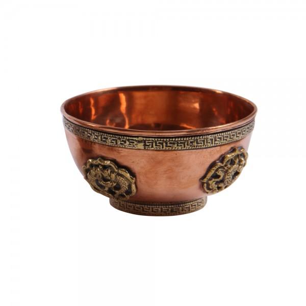 Räucherschale Doha M aus Kupfer und Weißmetall