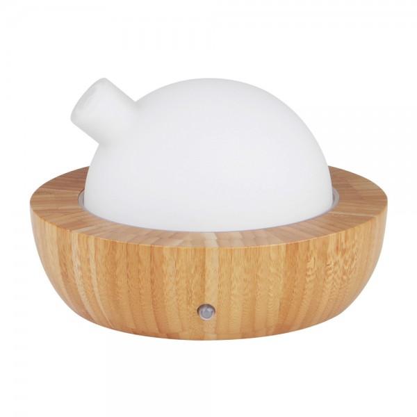 Diffuser Hera Bambus LED Farbwechsler 120 ml, Aromatherapie, Ultraschalltechnologie, Luftbefeuchter
