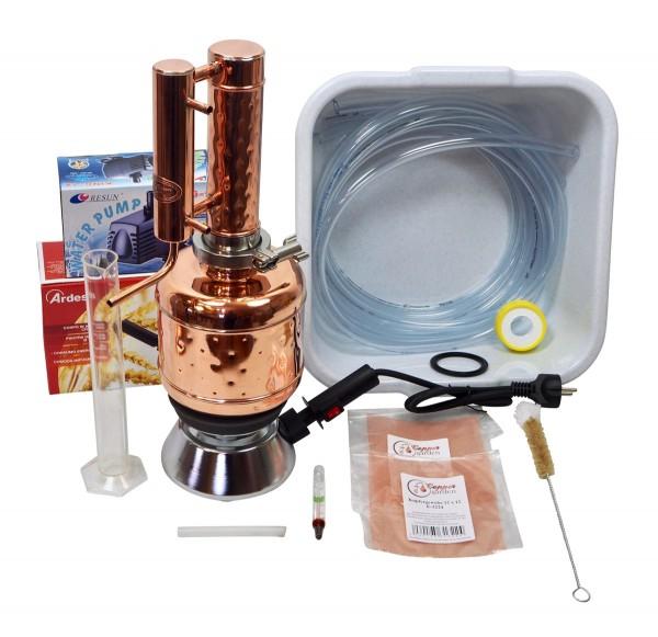 CopperGarden Destille Easy Moonshine aus Kupfer, 2 Liter, Komplettset, meldefrei, druckbeständig