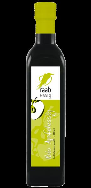 Ölmühle Raab Bio Apfelessig, 500 ml, im Eichenfass gereift, Kontrolliert biologischer Anbau