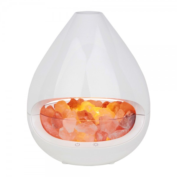 Diffuser und Salzkristall-Lampe GLO