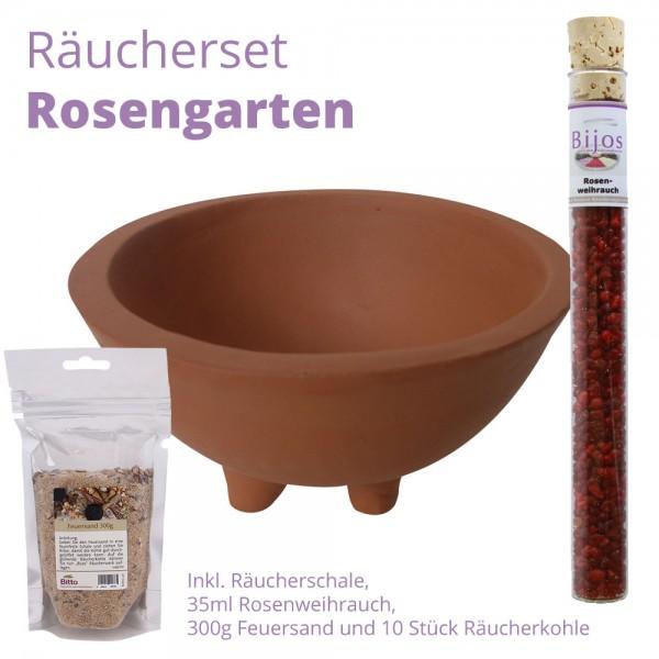 Räucherset Rosengarten