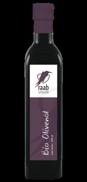 Ölmühle Raab Bio Olivenöl extra nativ, Handverlesen, Kaltextraktion, rein mechanische Verarbeitung