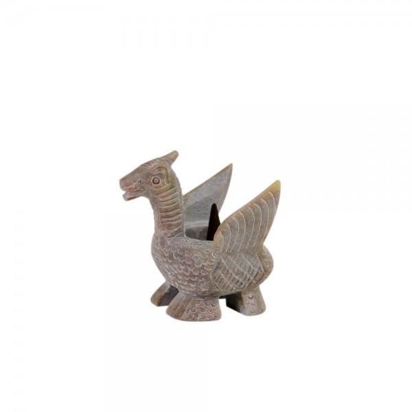 Räucherkegelhalter Dragon Fair Trade, Teelichthalter Softstone