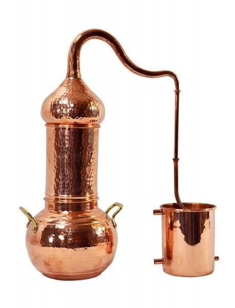 CopperGarden Destille Essence 2 Liter, meldefrei, handgeschmiedet aus Kupfer, Kolonnenbrennerei
