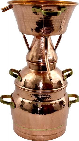 CopperGarden Destille Alquitara, 10 Liter, für ätherische Öle, handgeschmiedet aus Kupfer